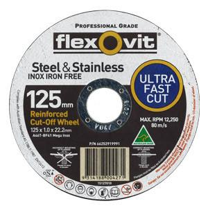 15127010 - Flexovit - Ultra Thin Cut Off Disc - 125mm X 1 X 22