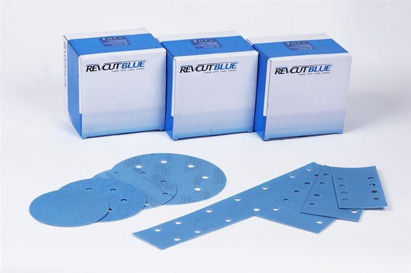 Revcut Blue 200mm No-Hole Velstick Sanding Discs