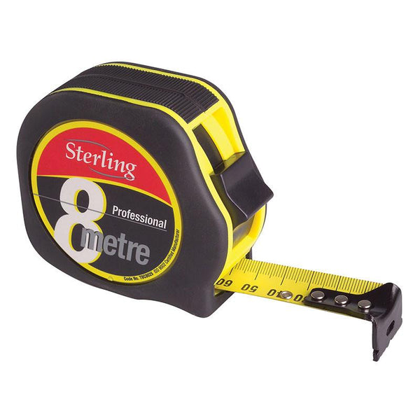 Sterling Metric / Imperial Professional Tape Measure - 8mtr X 25mm