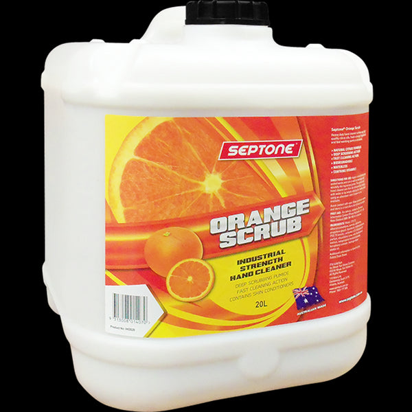 Septone Orange Scrub Hand Cleaner + Pump 20Ltr