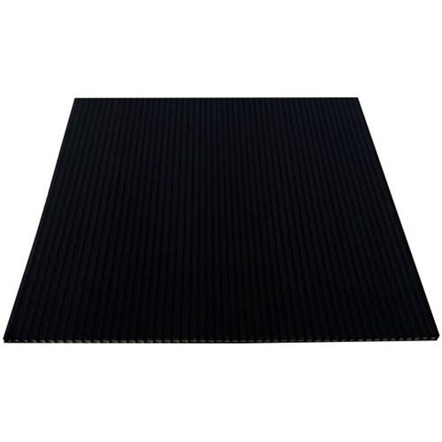Core Flute Industrial Grade 2440mm X 1220mm X 2.5mm / 350gsm Black (Packing Sheet Use)