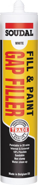 Soudal Fill & Paint Gap Filler 300ml - White
