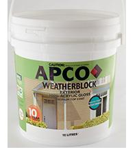 Weatherblock Premium Acrylyc Int / Ext Low Sheen Super White 15 Ltr