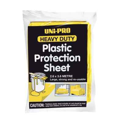 Uni-Pro Plastic Protection Sheet H/Duty 2.6 X 3.6m
