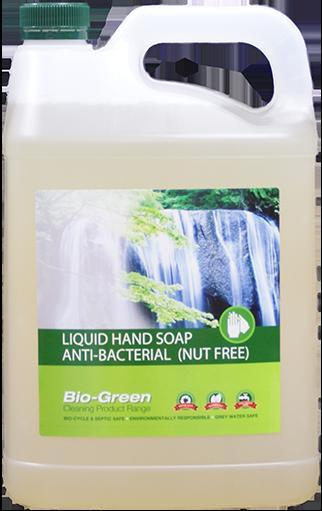 Bio-Green Liquid Hand Soap - Anti-Bacterial & Nut Free 5 Ltr