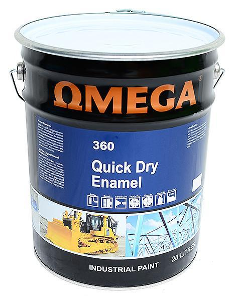 Omega Quick Dry Enamel - Satin / Matt Black