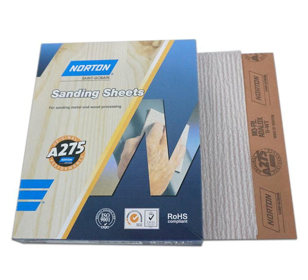 Norton A275 No-Fil Sandpaper Sheets