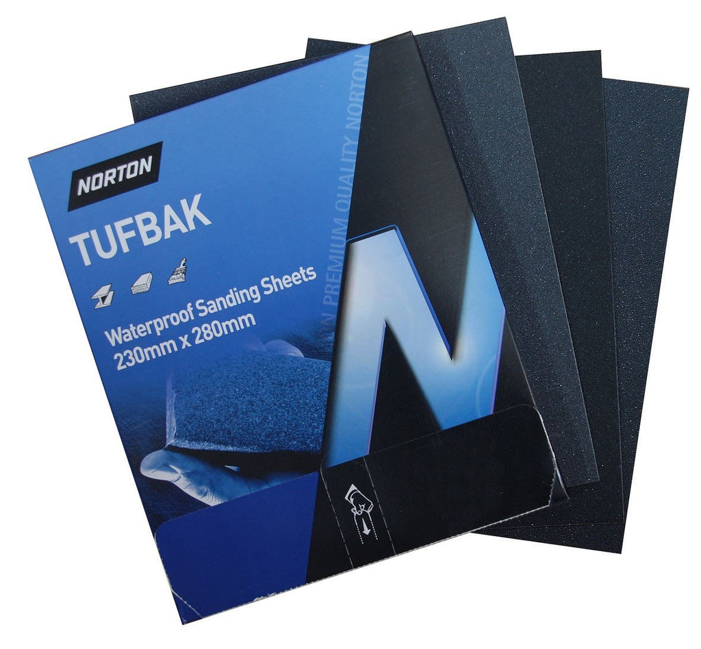 Norton T417 Tufbak Wet & Dry Sandpaper Sheets