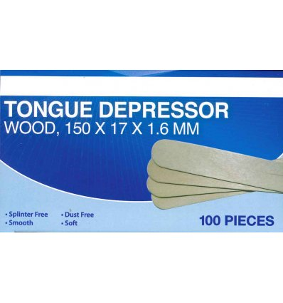 Livingstone Tongue Depressor Pack of 100 (150x17x1.6)