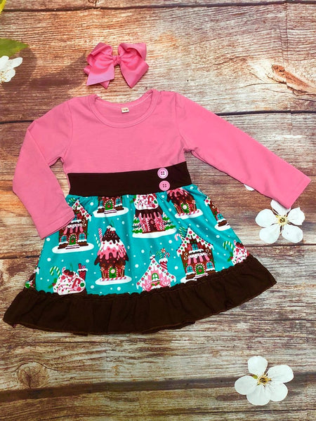 Holiday Gingerbread House Dress - My 4 Princesses LLC