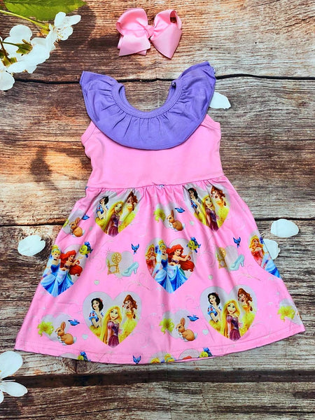 Princess for a Day Ruffle Collar Dress - My 4 Princesses LLC