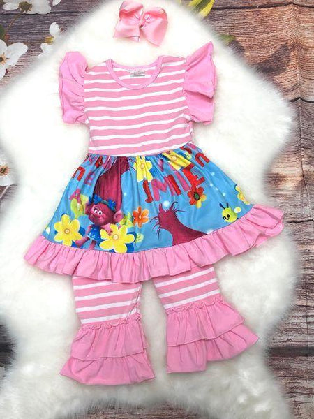Troll Dress with Ruffle Capri Set - My 4 Princesses LLC