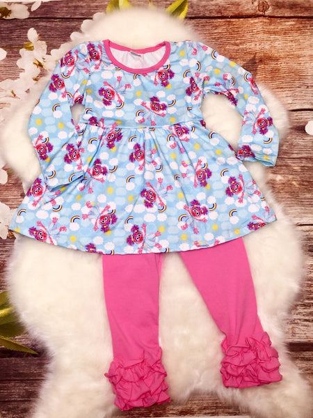 Abby Caddaby Top and Ruffle Pant Sets - My 4 Princesses LLC
