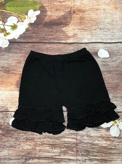 Black Ruffle Shorts - My 4 Princesses LLC