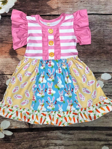 Easter Bunny Feet Dress - My 4 Princesses LLC