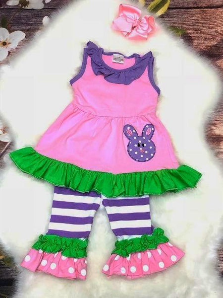 Daisy Bunny Capri Set - My 4 Princesses LLC