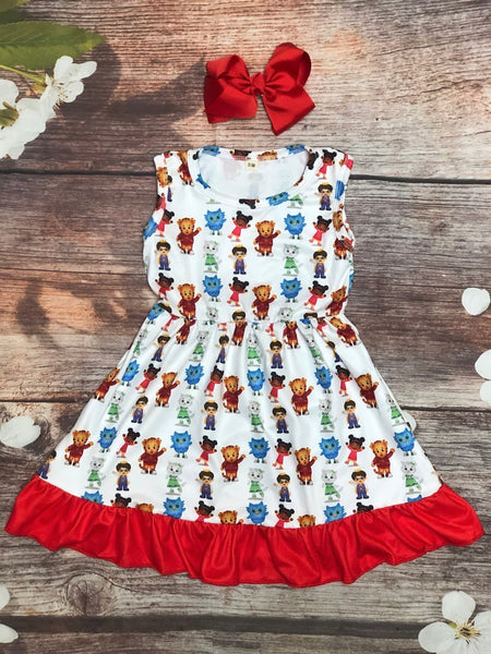 Daniel Tiger Tank Skater Dress - My 4 Princesses LLC