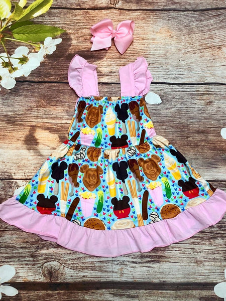 Magical Treats Flutter Sleeve Dress - My 4 Princesses LLC