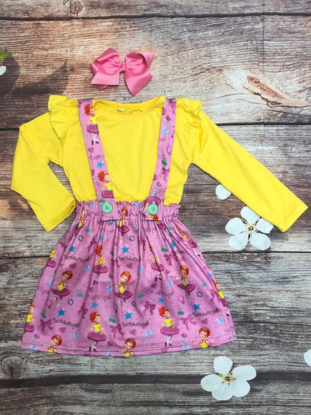 Fantastique! Nancy Suspender Skirt & Shirt Set - My 4 Princesses LLC