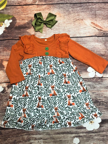 Fox in the Meadow Dress - My 4 Princesses LLC