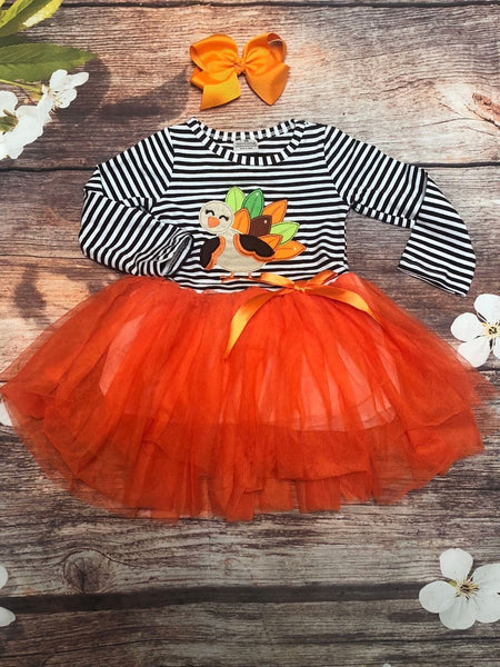 'Hank the Turkey' Thanksgiving Tutu Dress - My 4 Princesses LLC