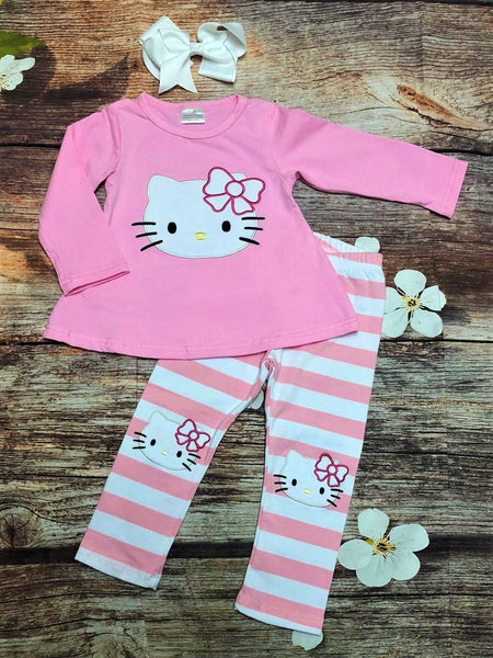 Hello Kitty Knee Patch Pant Set - My 4 Princesses LLC