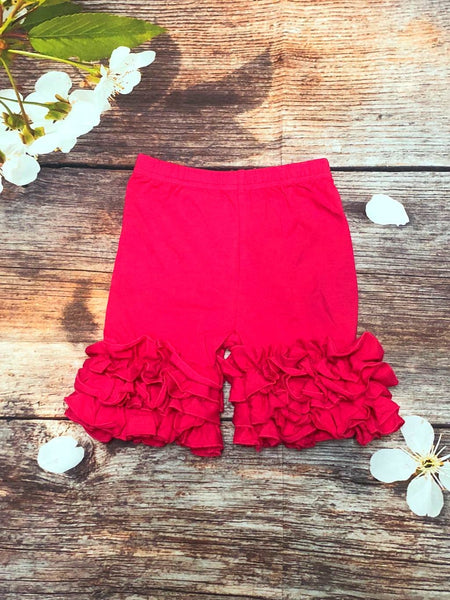 Deep Pink Ruffle Shorts SIZES 12/18 MONTHS  3T  &  6