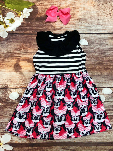 'Smarty Pants' Minnie Striped Dress