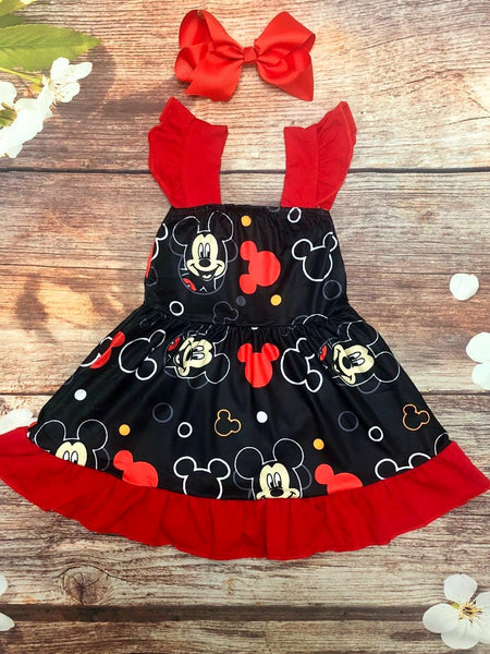 Mickey Flutter Sleeve Twirl Dress - My 4 Princesses LLC
