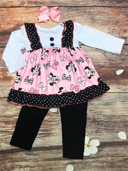 Darling Minnie Cropped Ankle Legging Set - My 4 Princesses LLC