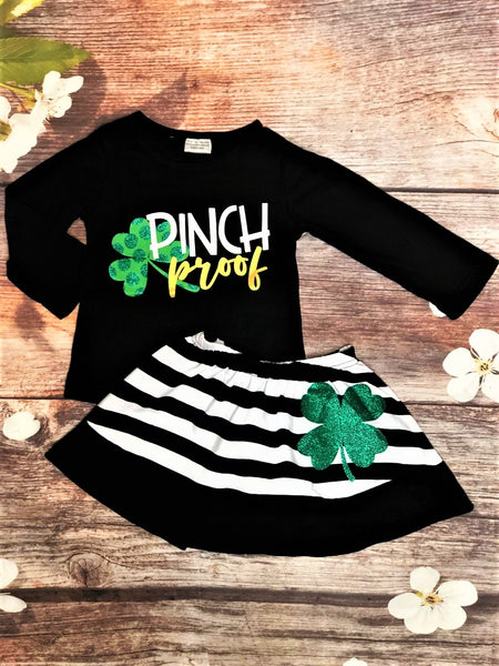 Pinch Proof Striped Skirt Set - My 4 Princesses LLC