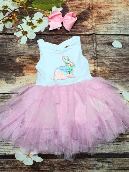 Pink Tutu Bunny Dress - My 4 Princesses LLC