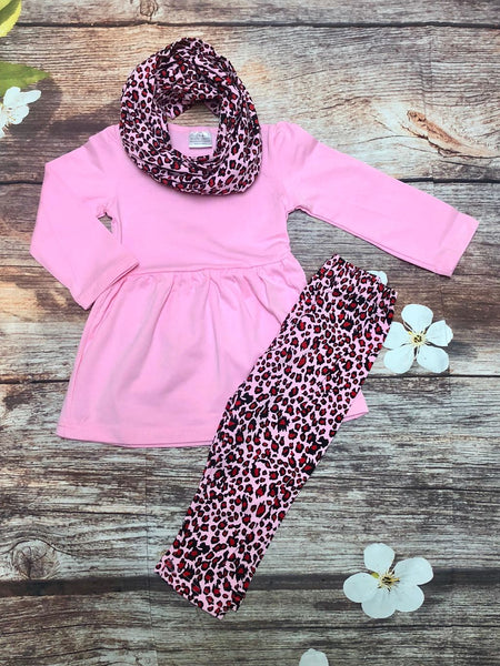 Pink Cheetah 3 Piece Scarf Set - My 4 Princesses LLC