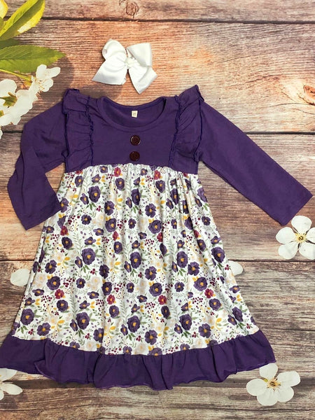 Purple Poppy Dress - My 4 Princesses LLC