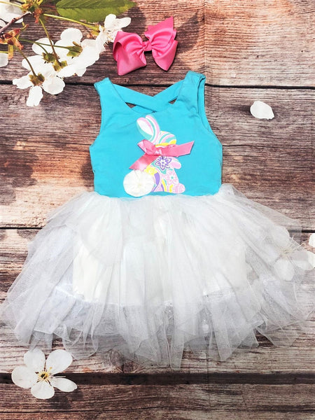 Teal Bunny Tutu Dress - My 4 Princesses LLC