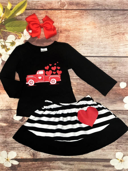 Truck Full Of Luv Skirt Set - My 4 Princesses LLC