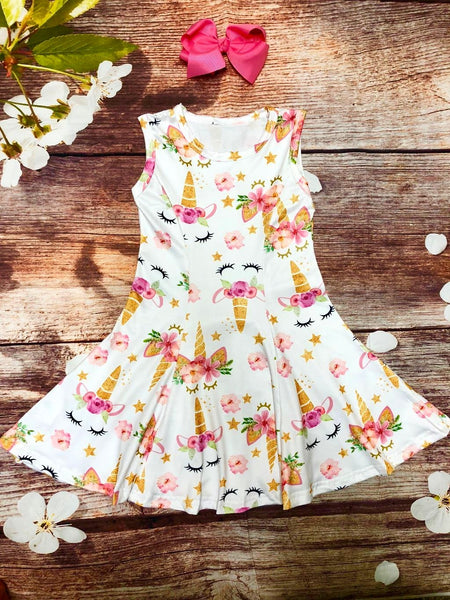 Unicorn Dreams Twirl Dress - My 4 Princesses LLC