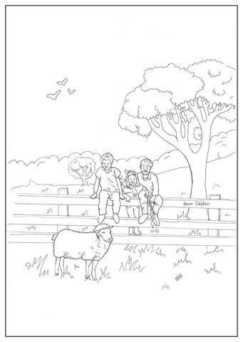 Bangor Kids Colouring In Page
