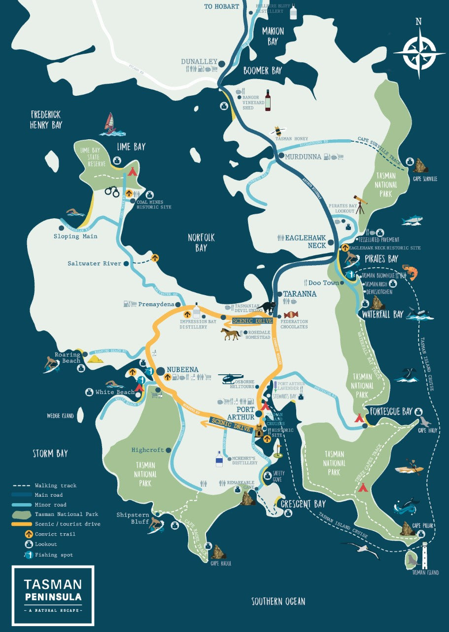 Tasman Peninsula Map