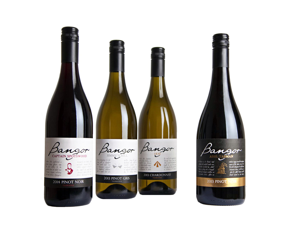 Try the Bangor selection of Tasmanian wines
