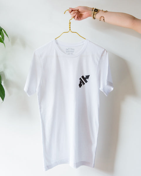 Black on White T-Shirt