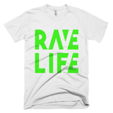 RAVE LIFE Neon Green Logo T-Shirt Men