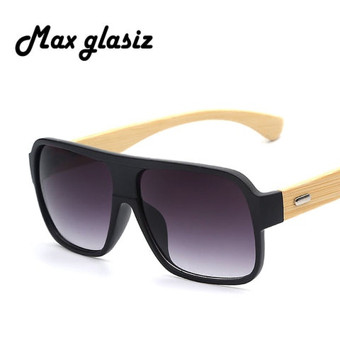 Retro Bamboo Frame Shades by Max Glasiz