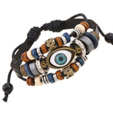 Eye Leather Adjustable Bracelet