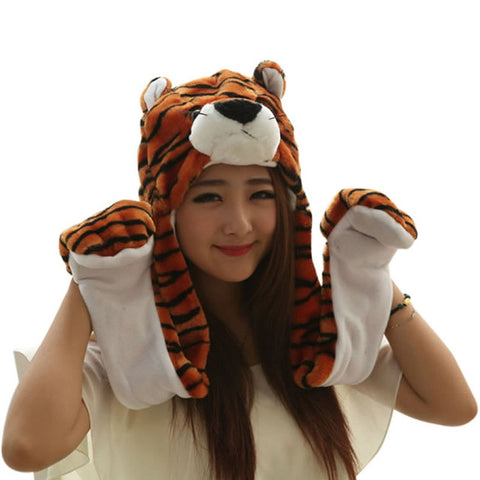 Plush Hat Tiger