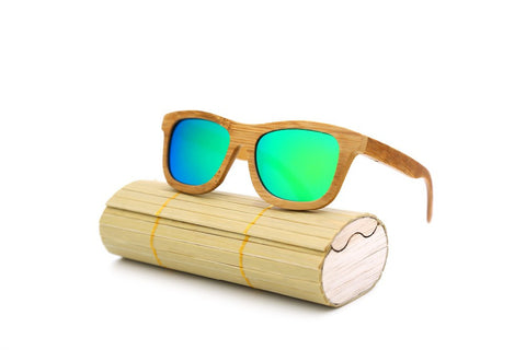 All Bamboo Wood Frame Shades by Angcen