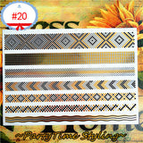 Band Pattern Temporary Tattoos