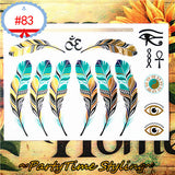 Cleopatra Feathers Temporary Tattoos