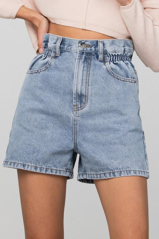 Paper Bag Denim Short