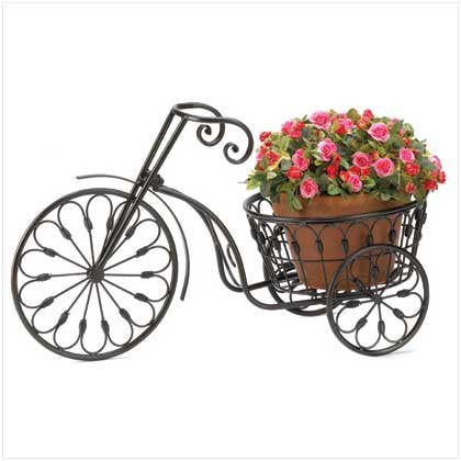 Bicycle Home Garden Decor Iron Plant Stand - Xamns